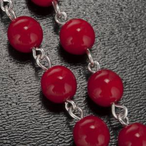 Ghirelli rosary, Lourdes, red 7mm s5