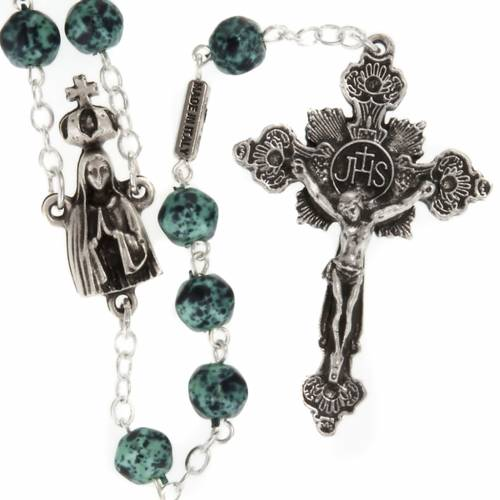 Ghirelli rosary, Our Lady of Fatima, metallic 7mm s1