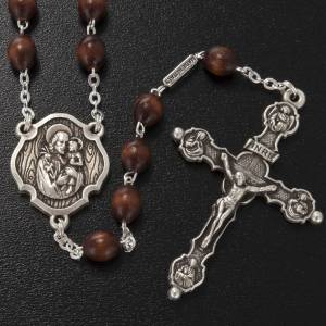 Ghirelli rosary, St. Joseph with baby 6x8mm s2