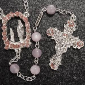 Ghirelli Outlet Rosenkränze: Ghirelli Rosenkranz Liebe Frau Lourdes 6 mm rosa versilbert