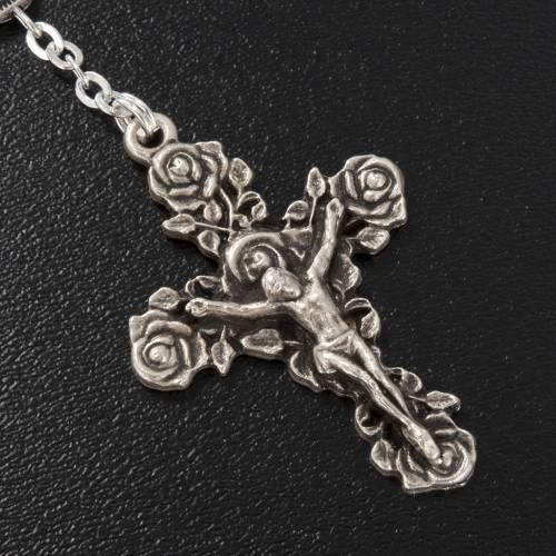 Ghirelli single-decade rosary, Saint Teresa in brass, 6x8mm s3
