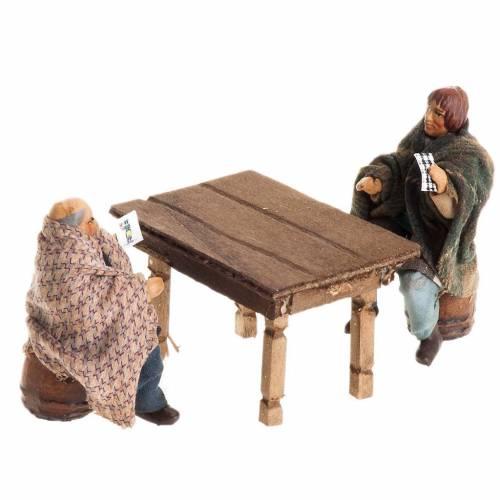 Giocatori di carte 8 cm con tavolo s1