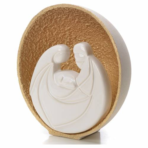 Gold Pearl Nativity figurine in Refractory clay 14.5cm s2