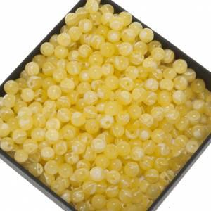 Rosari Fai Da Te: Grani rosari fai da te imitazione seta giallo 5 mm