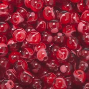 Rosari Fai Da Te: Grani rosari fai da te imitazione seta rosso 5 mm