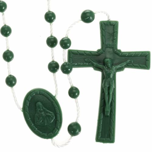 Green nylon rosary s1
