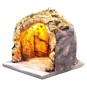 Grotta 20x20x20 cm con luci presepe di Napoli s2