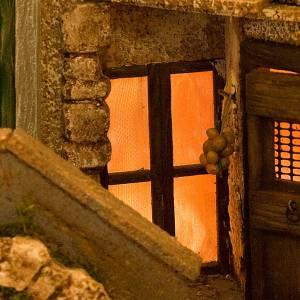 STOCK - Grotta e borgo illuminati legno 40X57X40 s6