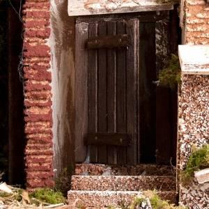 STOCK - Capanna presepe con borgo 50x60x40 cm s4