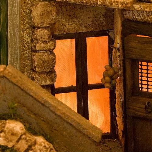 Grotte pour crèche, village illuminé 40x57x40 s6