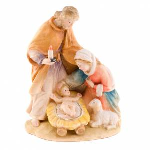 Hand-painted wood nativity set s1