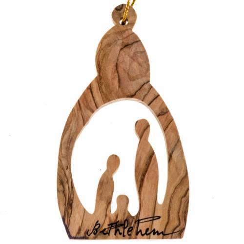 Hanging decoration, Nativity olive wood Palestine s1