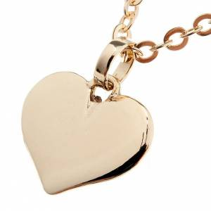 Pendants, crosses and pins: Heart necklace in 750/00 gold - 1,60 gr