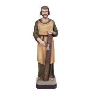 Fiberglas Statuen: Heiligenfigur Josef der Schreiner, Fiberglass 80 cm