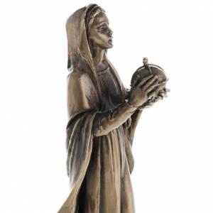 Statuen aus Harz und PVC: Gottesmutter Maria aus Harz 16cm, Bronzefarbig