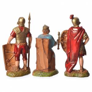 Herod and soldiers, 3 nativity figurines, 6cm Moranduzzo s2