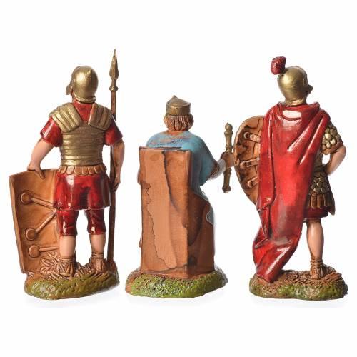 Hérode et soldats 3 pcs crèche 6 cm Moranduzzo s2