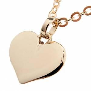 Anhänger, Kreuze, Broschen: Herz Halskette Gold 750/00 - 1,60 Gramm