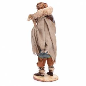 Krippenfiguren von Angela Tripi: Hirte mit Lamm 18cm Terrakotta, A. Tripi