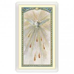 Holy cards: Holy card, Holy Ghost, Prayer to the Holy Spirit ITA 10x5 cm