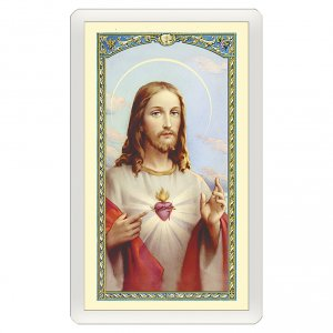Holy cards: Holy card, Sacred Heart, Consecration to the Sacred Heart ITA 10x5 cm
