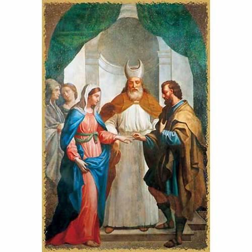 Holy card, Virgin Mary wedding s1