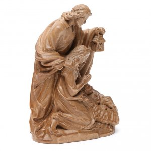 Holy Family group statue in Valgardena wood, patinated finish s3