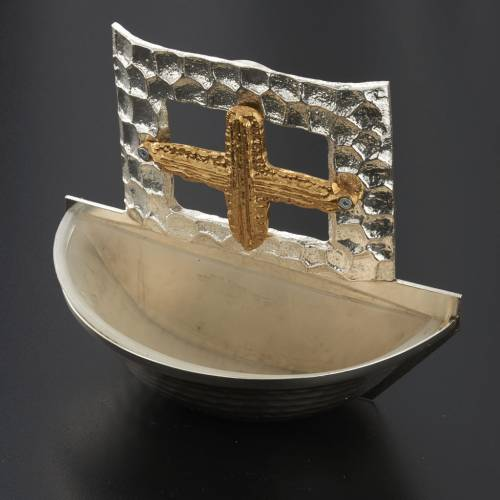 Holy water font square cross s2