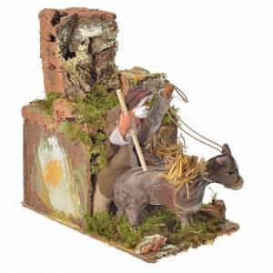 Homme à l'âne en mouvement crèche 8 cm s3