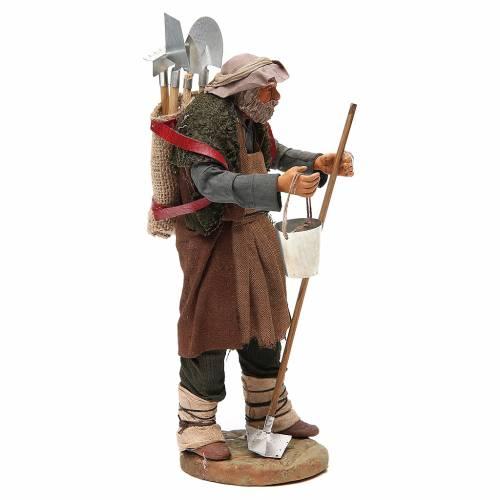 Homme avec outils agricoles 24 cm crèche napolitaine s4