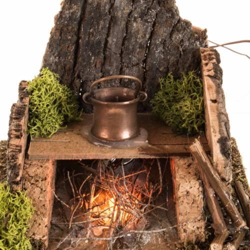 Horno con humo verdadero, destilador y transf.para el pesebre s3