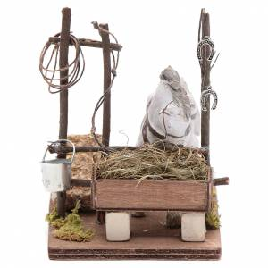 Neapolitan Nativity Scene: Horse with manger 10cm Neapolitan Nativity figurine