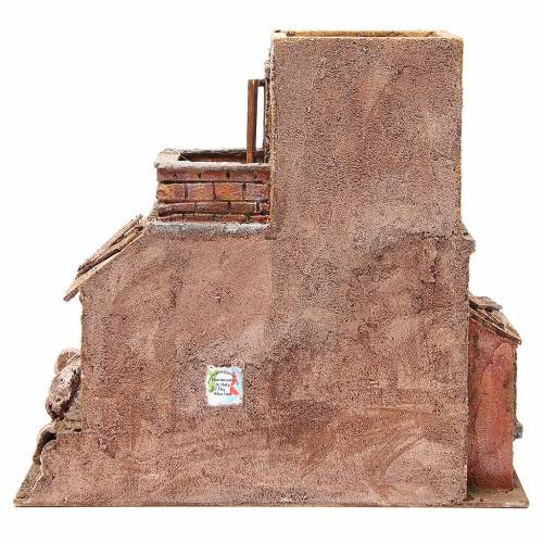 House with hut nativity 35x38x25cm s4