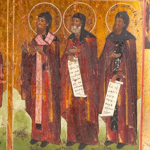 Icona antica russa in quattro parti s4
