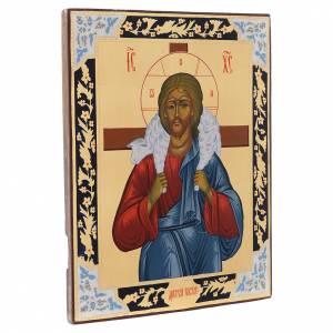 Icone Russe dipinte su tavola antica: Icona Buon Pastore dipinta tavola antica Russia