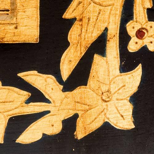 Icona intaglio Pentecoste 26x31 Russia dipinta a mano s2