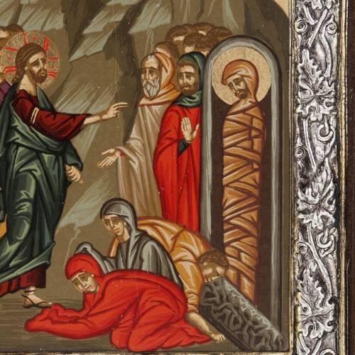 Icona Grecia Resurrezione di Lazzaro argento 925 s2