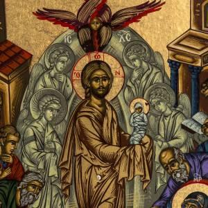 Icona Grecia serigrafia Dormizione di Maria 31x24 s3