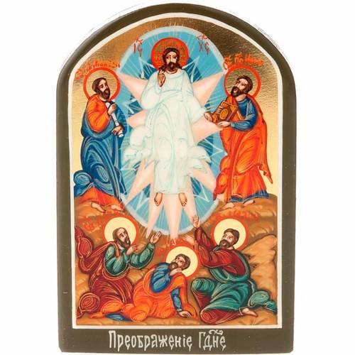 Icona russa Trasfigurazione 6x9 cm s1