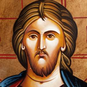 Icona Cristo Pantocratore libro chiuso s2