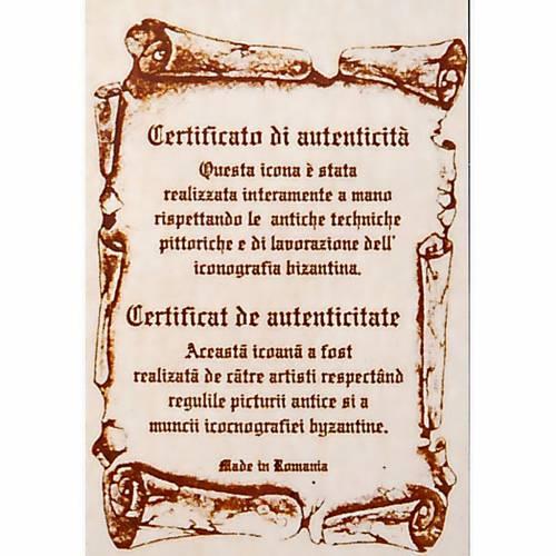 Icona dipinta a mano Pantocratore libro chiuso s5
