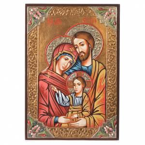 Icone Romania dipinte: Icona Sacra Famiglia strass