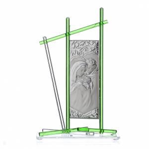 Bomboniere e ricordini: Icona Sacra Famiglia vetro Murano verde 24x15 cm