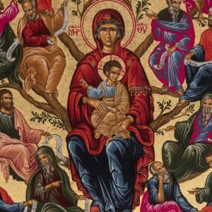 Icona serigrafata Albero della Sapienza Grecia s2