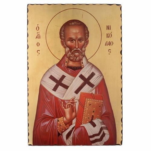 Icona serigrafata San Nicola di Bari 60x40 cm s1