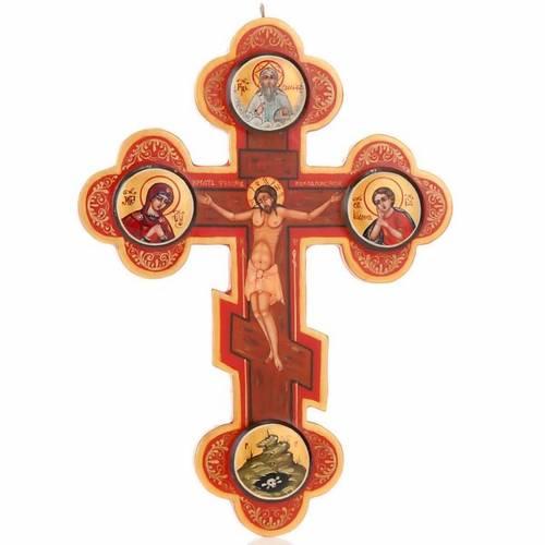 Icône croix trois lobes russe, bois 1