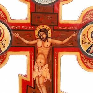 Icône croix trois lobes russe, bois s3