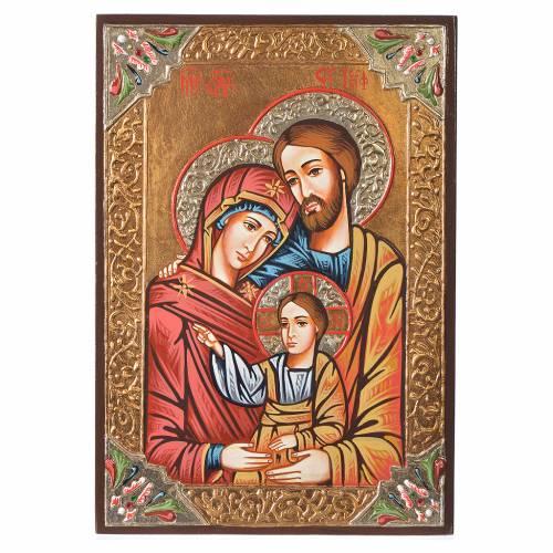 Icône de la Sainte Famille, paillettes s1