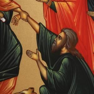Icone Descente aux Enfers peinte à la main Russie 22x27cm s3