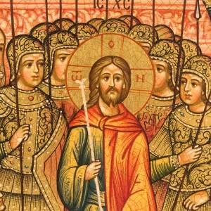 Icône orthodoxe peinte Humiliation de Jésus Russie s2